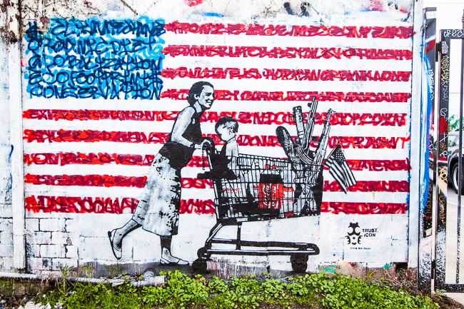 Dirty Wet Paint….American consumerism – dopemelrose